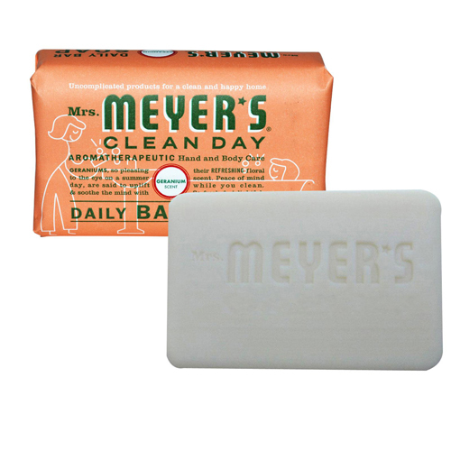 Mrs. Meyer's Bar Soap Geranium 5.3 Oz