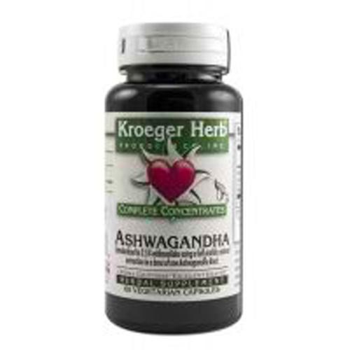 Kroeger Herb Ashwagandha Complete Concentrate (60 Veg Capsules)