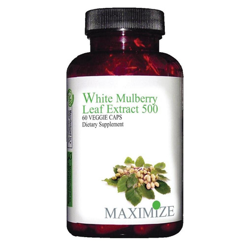 Maximum International White MuLberry Leaf Extract 500 (1x60 Veg Capsules)