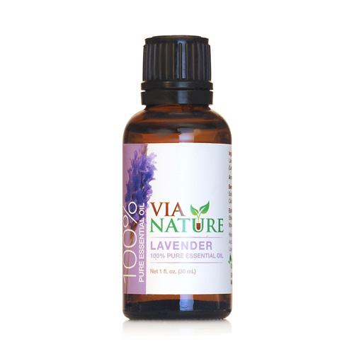 Via Nature Essential Oil 100% Pure Lavender Single (1x1 fl Oz)