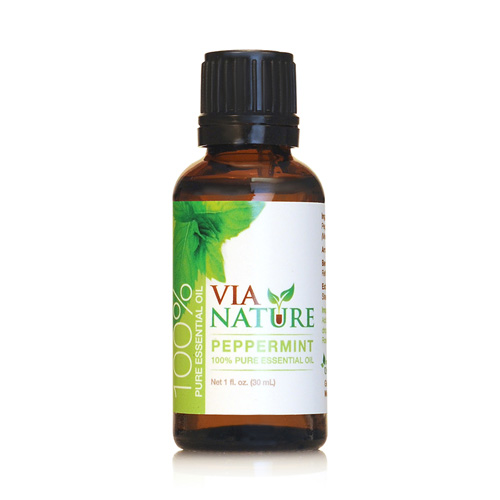 Via Nature Essential Oil 100% Pure Peppermint Single (1x1 fl Oz)