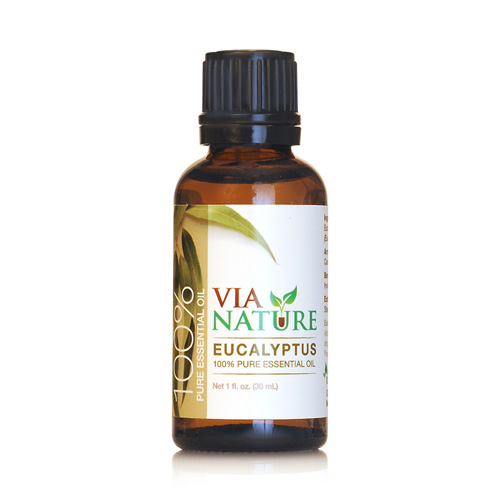 Via Nature Essential Oil 100% Pure Eucalyptus Single (1x1 fl Oz)