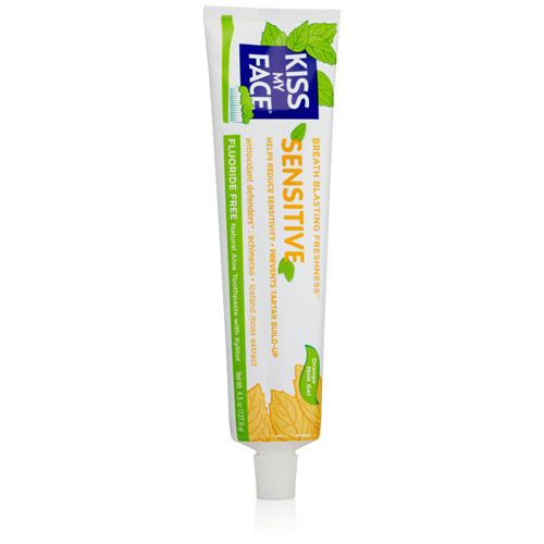 Kiss My Face Toothpaste Sensitive Fluoride Free Gel 4.5 Oz