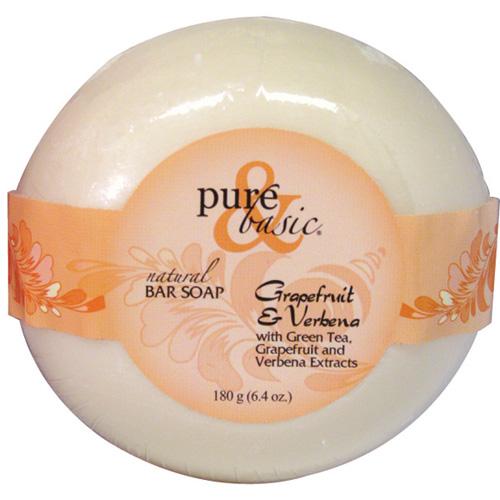 Pure and Basic Bar Soap Grapefruit Verbena (6x6.4 Oz)