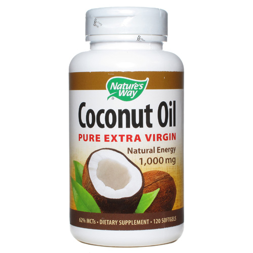 Nature's Way Coconut Oil 1000 mg (120 Softgels)