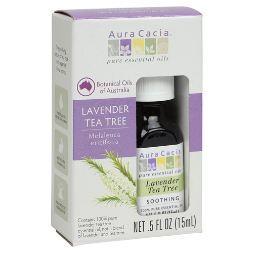 Aura Cacia Essential Oil Pure Lavender Tea Tree .5 fl Oz