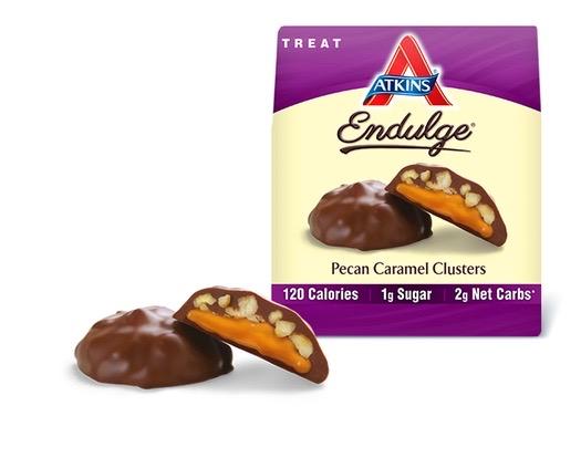 Atkins Endulge Pieces Pecan Caramel Cluster Bar 5 Oz