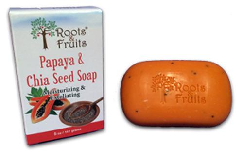 Roots and Fruits Bar Soap Papaya and Chia Seed (1x5.0 Oz)