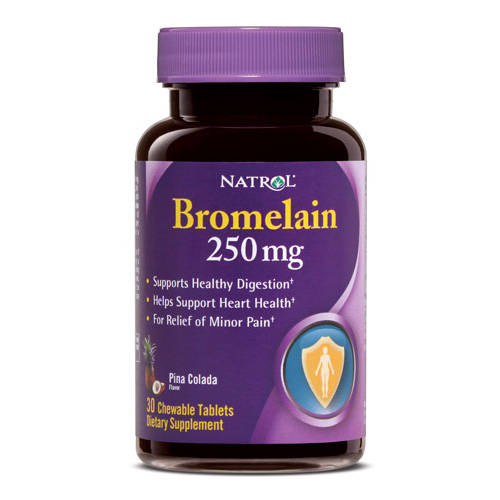 Natrol Bromelain 250 mg Chewable (30 Tablets)