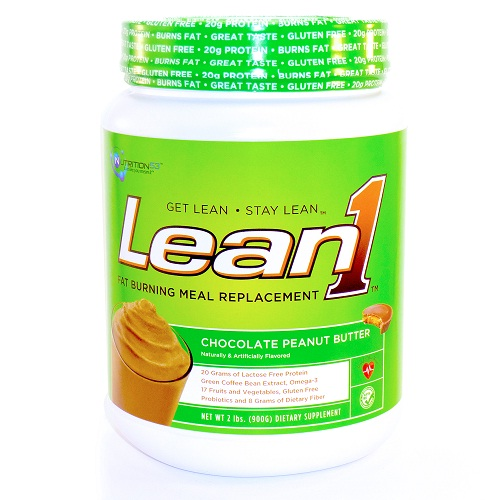 Nutrition53 Meal Replacement Shake  Lean1  Fat Burning  Chocolate Peanut Butter  2 lb