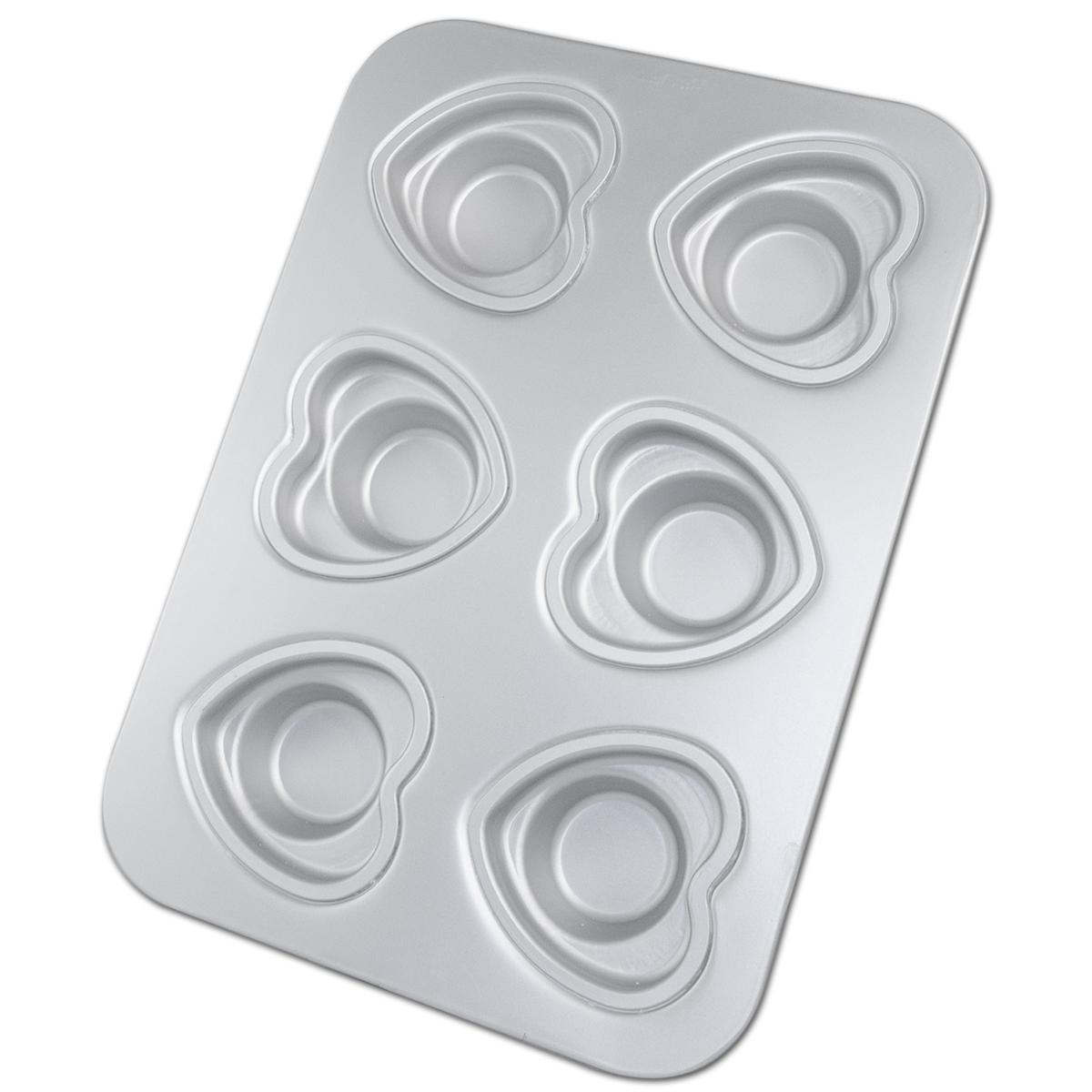 "Fat Daddio's Crown Muffin Pan 12 cup Heart Shape 3 3/4"" OD 2 1/8"" (Single)"