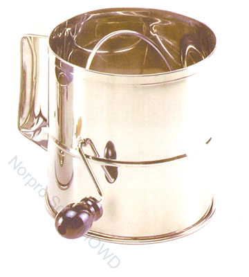 Norpro Flour Sifter Stainless Steel 8 Cup