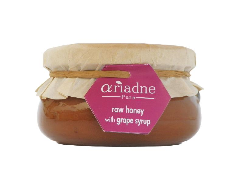 Ariadne Pure Raw Honey with Grape Syrup (1x8.8Oz)