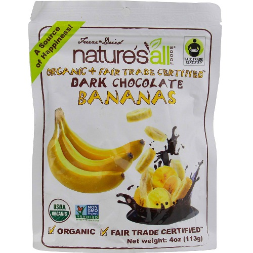 Natures All Foods Dark Chocolate Banana (12x4 Oz)