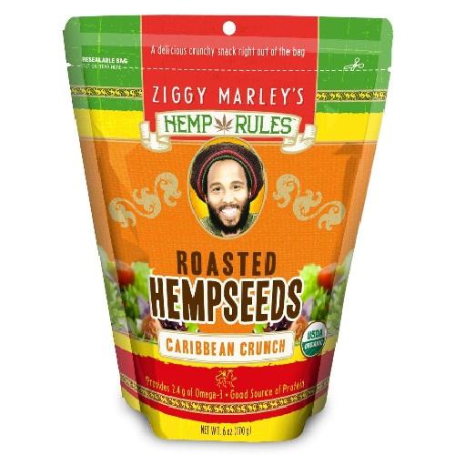Ziggy Marley's Hemp Rules Caribbean Crunch Hemp Seeds (6x6 Oz)